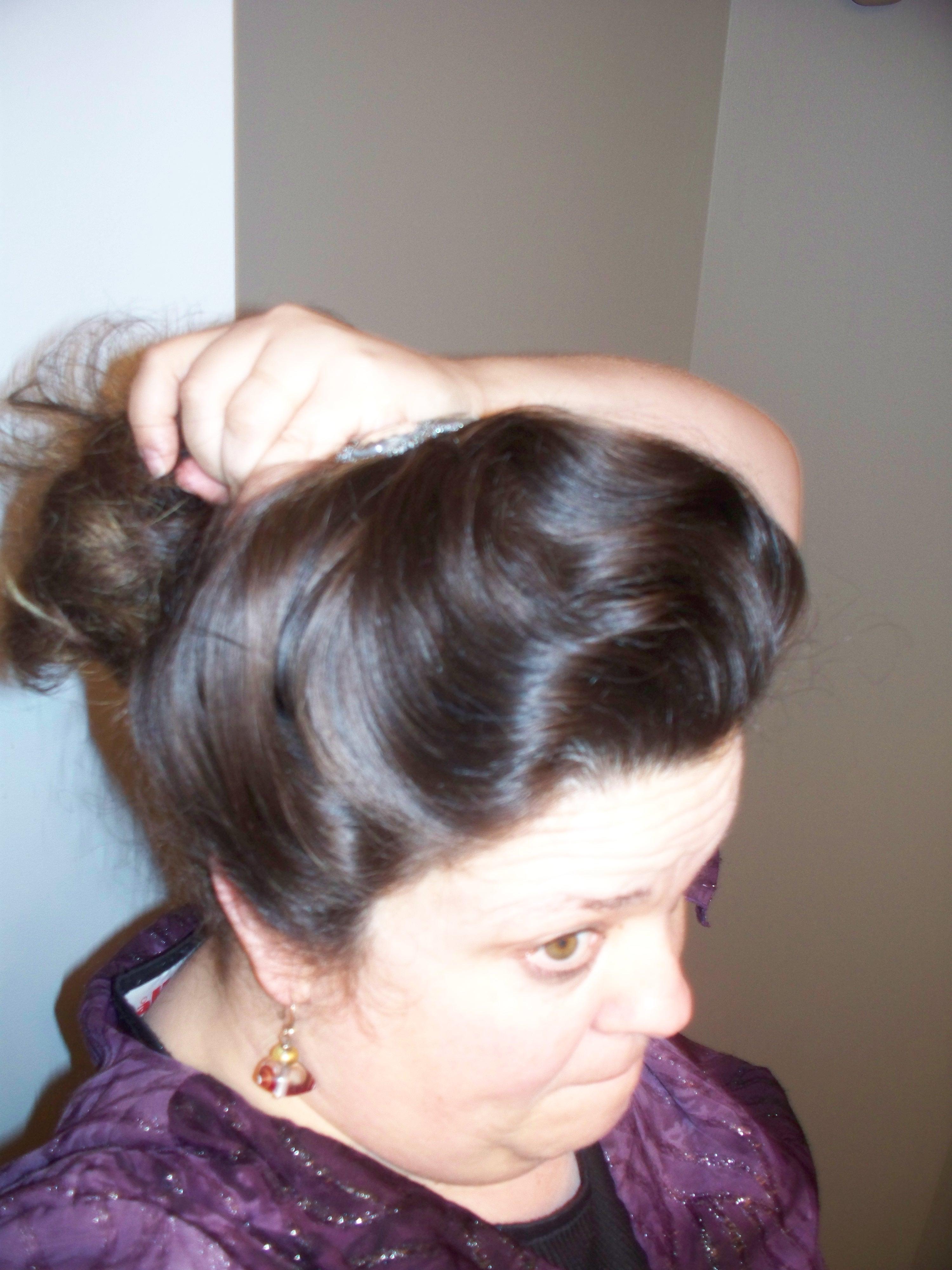 How i do my gibson girl hair for everyday wear wanda b victorian brush the rest of the hair baditri Gallery