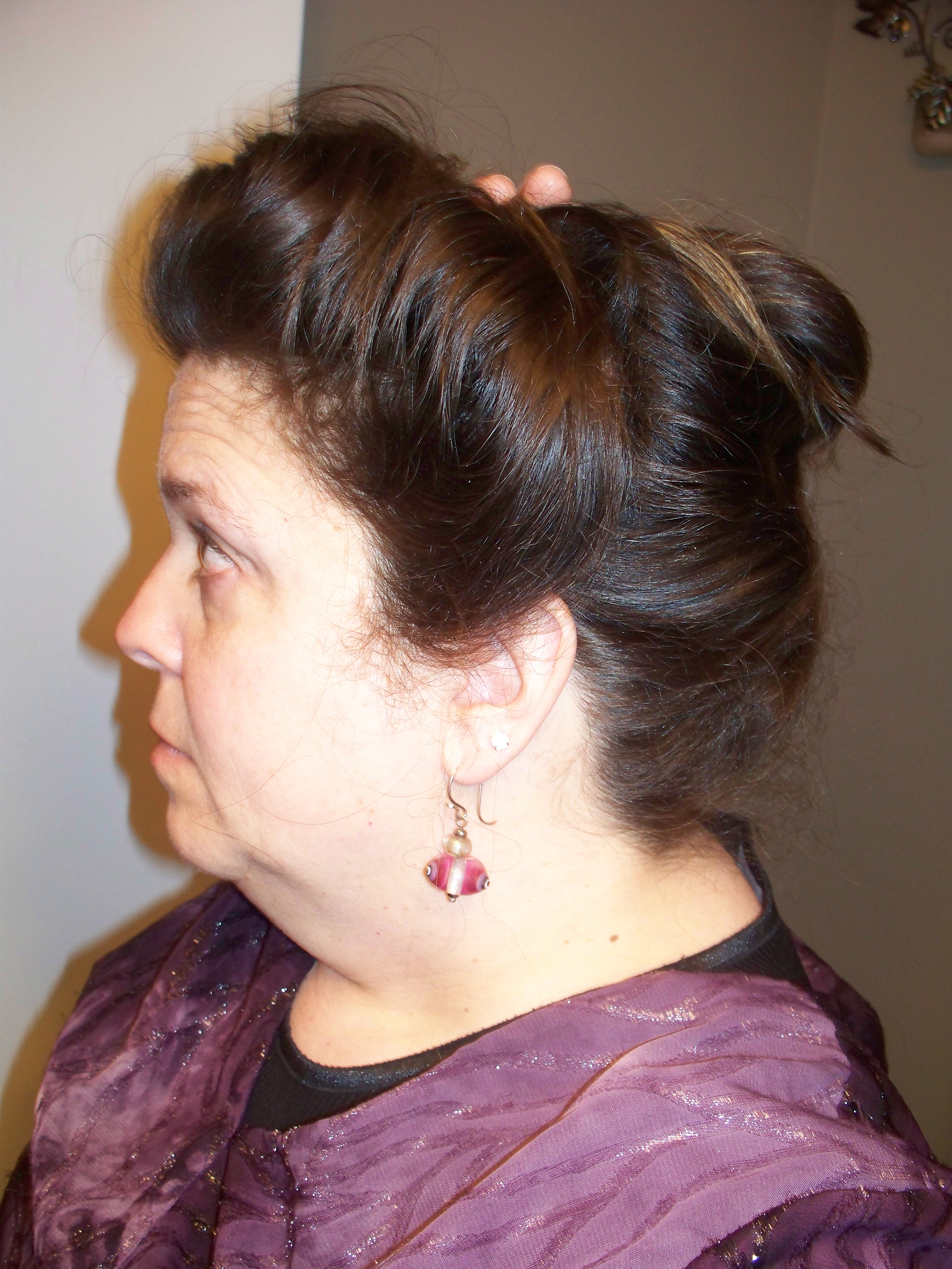 How i do my gibson girl hair for everyday wear wanda b victorian i pushed the barrette forward with one hand and put bobby pins in behind it to keep it from sliding back again now the hair has more height on top baditri Gallery