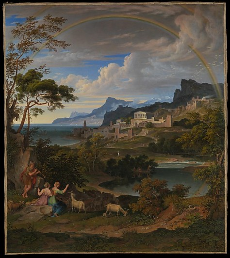 1824 Heroic Landscape with Rainbow- Joseph Anton Koch