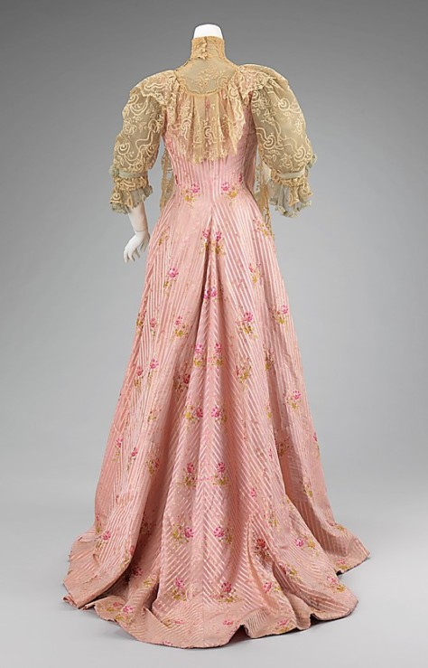 Is this dress too pink and girly for a 36 year old woman?  I don't know exactly where the line is drawn for age appropriate colors and styles for Victorians.