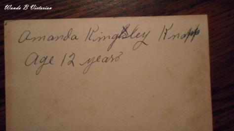Amanda Kingsley Knopp or Knapp and she was 12 years old.