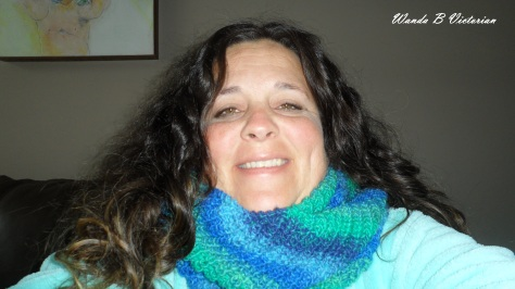 I made a cowl scarf.  It should go well with my new fall/spring coat.