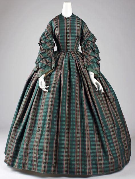 1960 dress plaid a