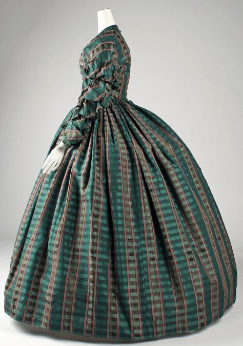 1960 dress plaid b