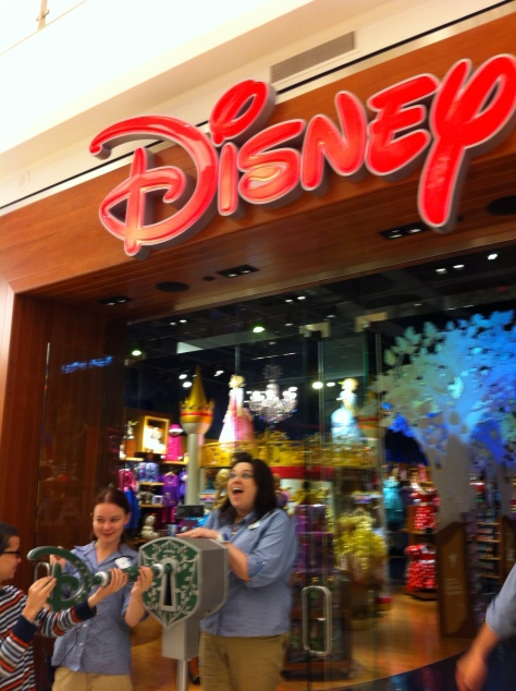I went to the Disney store...with no children in tow.  Yeah, I'm a kid at heart.