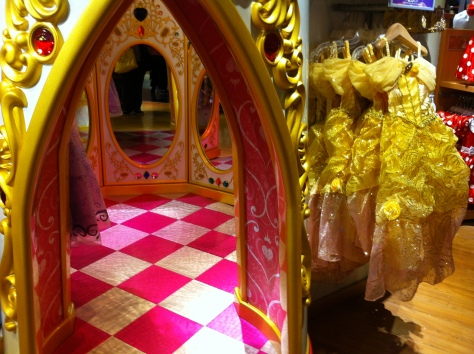 I hope I, one day, have a grand-daughter who is a girly girl so I can take her to the princess section and she can go in the castle dressing room to try on princess gowns.....