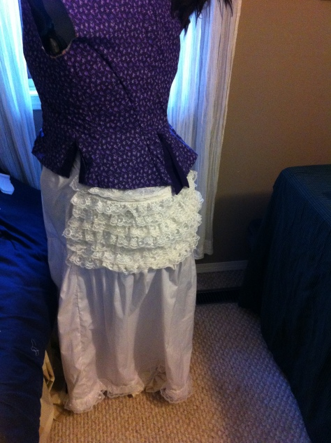 Added some frills to an already existing bustle.