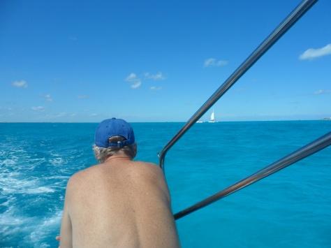 We had a catamaran ride.   It was pretty wavy so Mr Victorian got a bit sea sick.