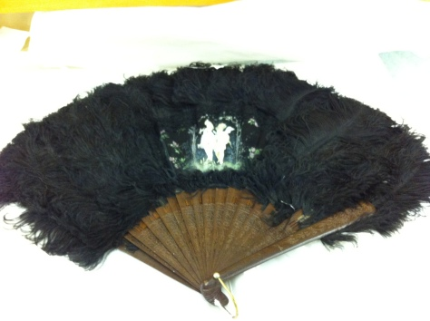 1880-90 fan from Costume Museum of Canada
