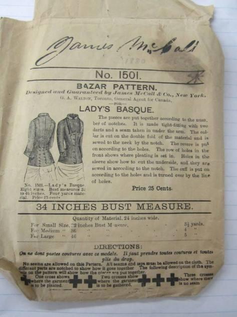 1880 ladies basque.