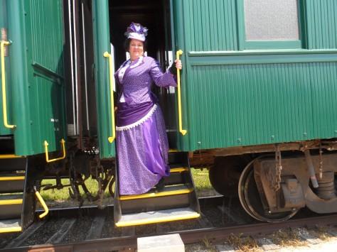 All aboard! The Prairie Dog train ride.