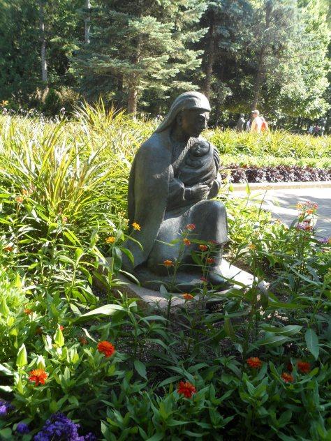 Statue in the Leo Mol Garden.