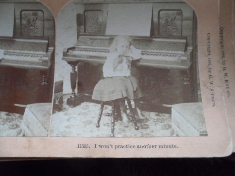 There once was a young girl who hated practicing her piano.