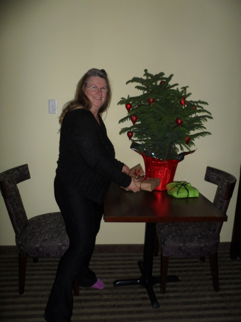 Shirley even thought of a Christmas tree!