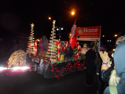There was a very cute little parade.  It was so small, they went around the block twice.  I loved it!