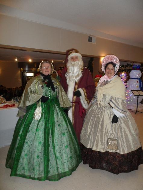 Father Christmas!  We've been good ladies....