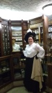 The dummy behind the counter had a similar shirtwaist on as the dummy in front of the counter!